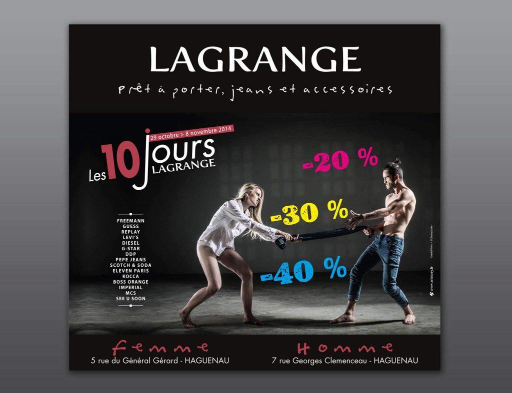 Conception et réalisation d'une campagne publicitaire pour LaGrange.