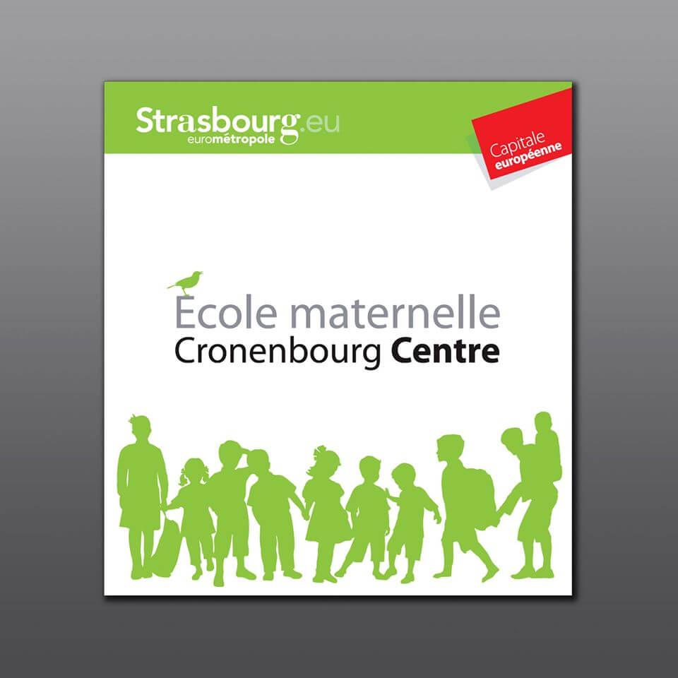 Réalisation de la signalétique pour l'école maternelle de Cronenbourg Centre