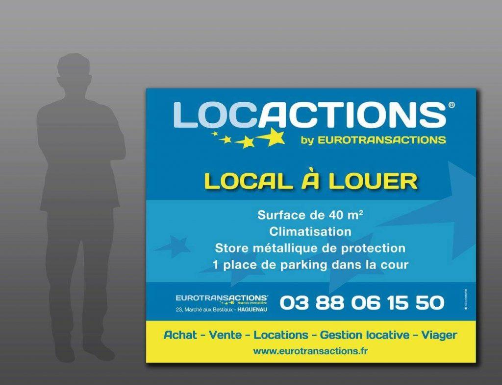 Conception et impression d'une affiche grand format pour LocActions
