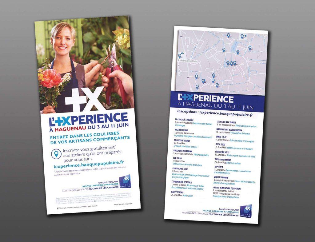 Réalisation des tracts pour la Banque Populaire Alsace Lorraine Champage