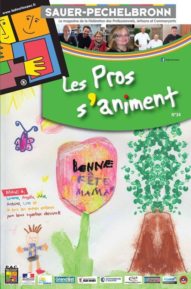 Conception du magazine numéro 34 pour la Fédération PAC