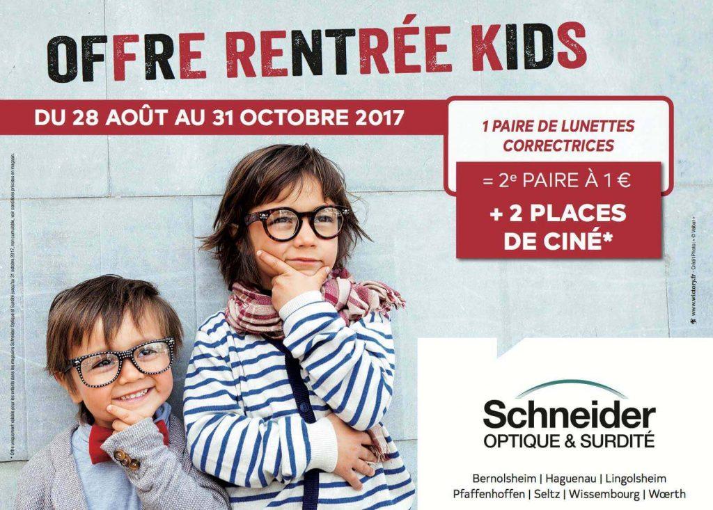 """Conception de la campagne et déclinaison sur tous les supports de la """"Rentrée Kids"""" pour Schneider Optique et Surdité"""