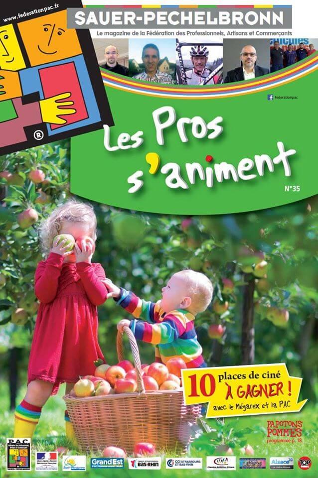 """La conception-réalisation du magazine trimestriel """"les Pros s\'animent"""" est achevée."""