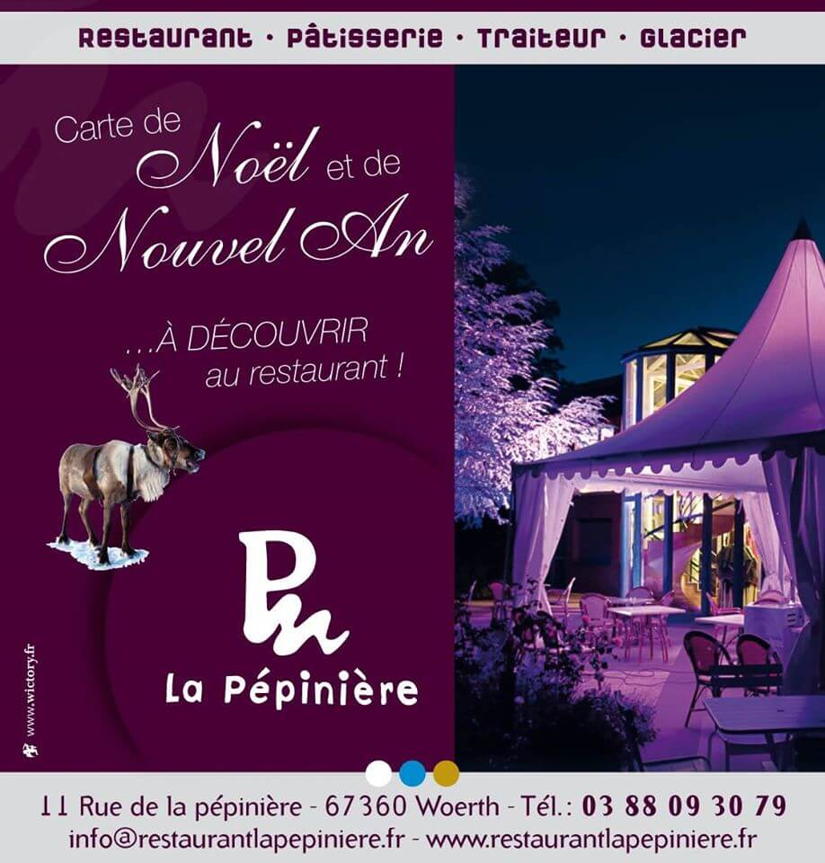Création et réalisation de la nouvelle Carte de Noël et de Nouvel An pour La Pépinière > à découvrir au restaurant !