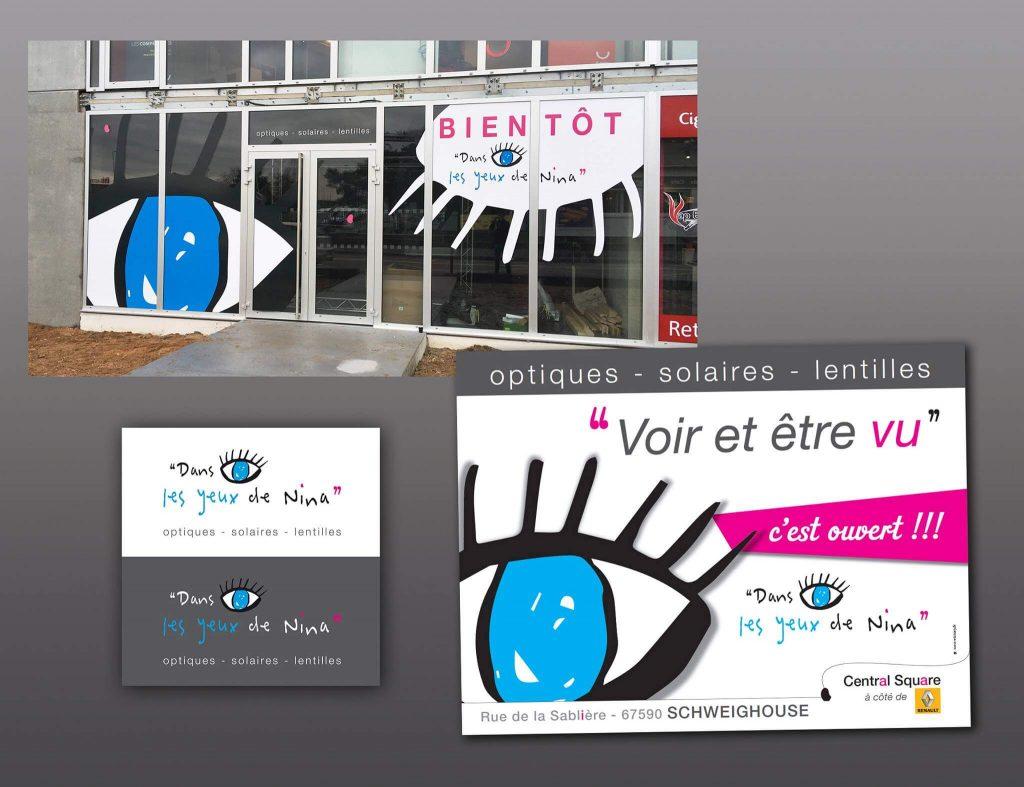"""Création du logo et de la campagne d'ouverture pour """"Dans les Yeux de Nina"""" Ouverture prochaine !"""