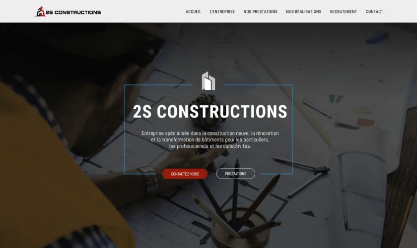 Création du site internet 2S Construction