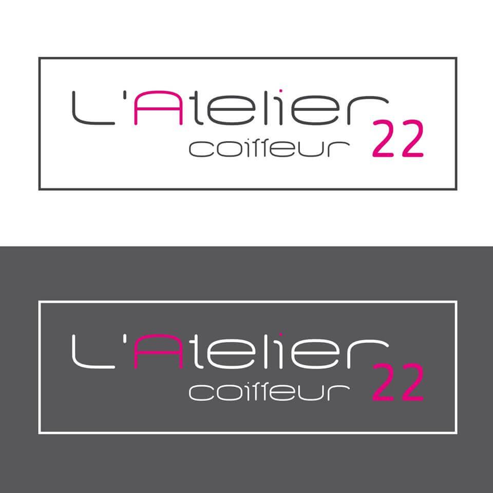Création du logo et de la charte graphique pour L'atelier 22 Coiffeur