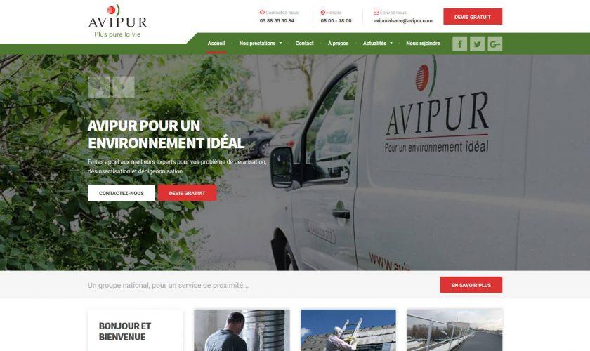 Conception du site internet Avipur
