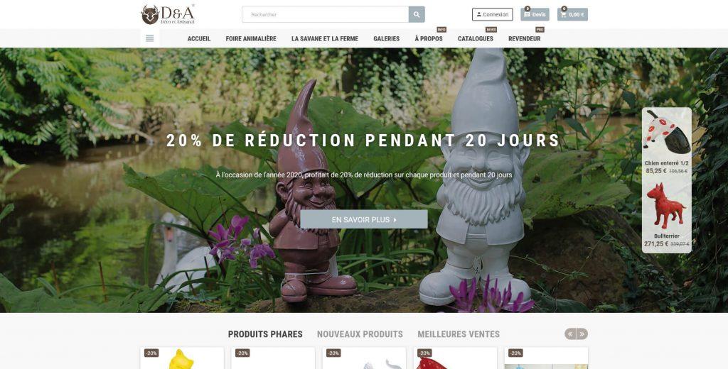 Conception et développement du site internet de Déco et Artisanat