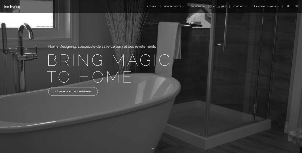 Conception et développement du site internet de Home designing