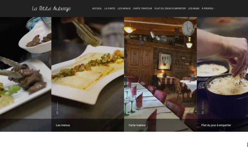 Création du nouveau site internet pour le Restaurant la petite Auberge