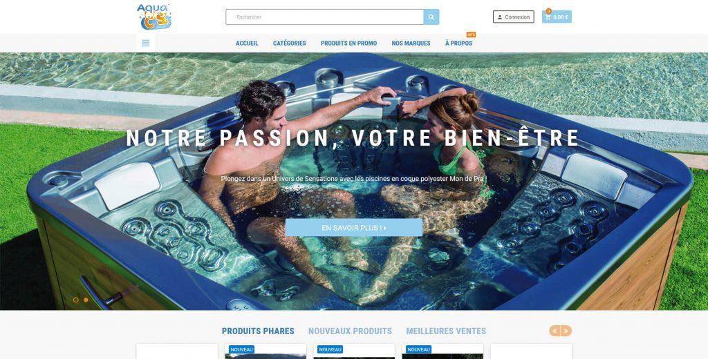 Conception et réalisation de la boutique en ligne Aqua CS