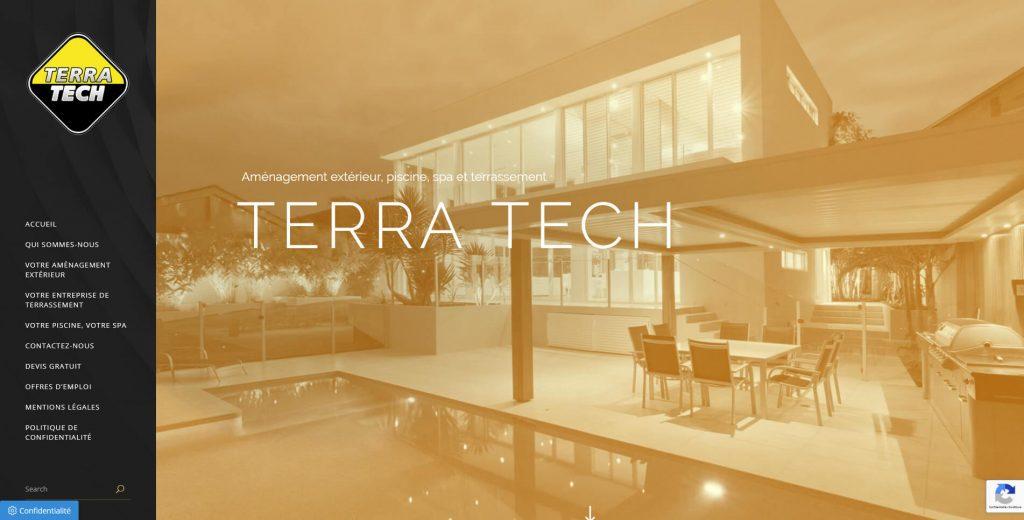 Conception et développement du site internet de Terra Tech