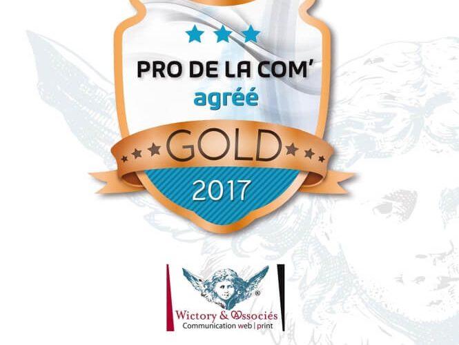 """Wictory labellisée Pro de la Com """"Gold"""" 2017"""