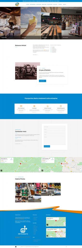 Création et conception du nouveau site pour l\'entreprise Boissons Hetzel