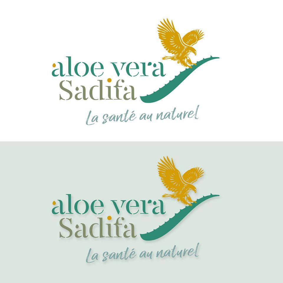 Conception du logo Aloe vera Sadifa