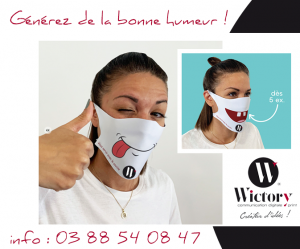 Masque en tissu personnalisable - Protection anti-covid Wictory