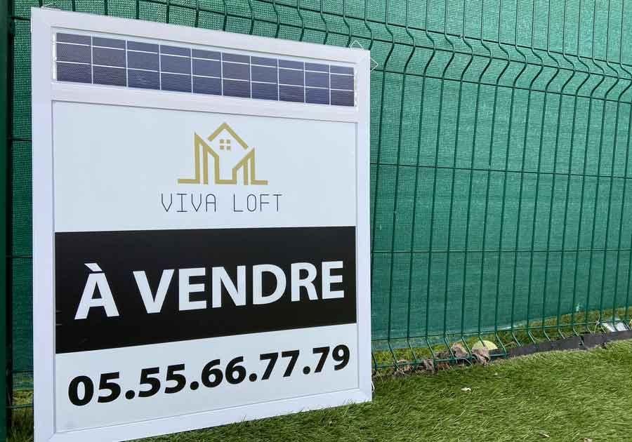 Panneau publicitaire à LED pour Viva Loft - Made by Wictory