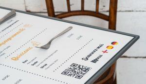 Set de table pour restaurant créé par Wictory